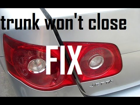 How to Fix Jetta Trunk Won't Close Solution Mk5 2005-2010 (re-position latch bar)