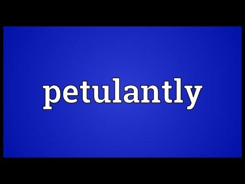 Header of petulantly