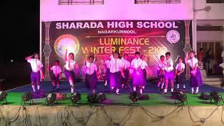 Cute dance by children on malayalam song || Sharada high school ||