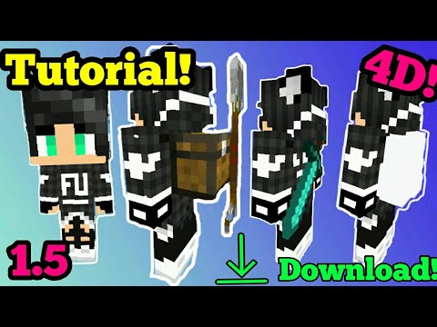 How to Import your own custom skin in a 4D Skin Pack|Minecraft PE [1.5 - 1.5.2]