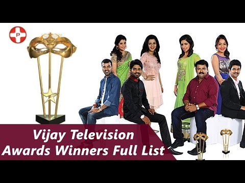 2nd Annual Vijay Television Awards 2015: Full (Complete) Winners List!