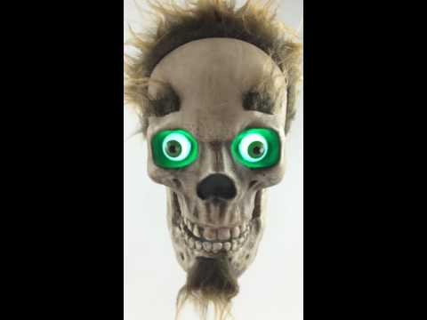 Sinny's Stuff Creepy Boyfriend Animated Talking Skull thumbnail