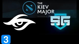 Secret vs SG Game 3  Kiev Major Highlights Dota 2