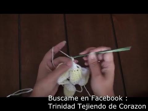 Mantita de Bebé en Punto Tunecino y Crochet (Parte 3)