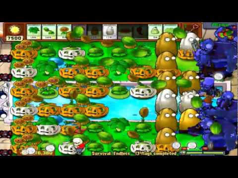 Plants Vs. Zombies Part 49 Survival Endless Flags 13-16