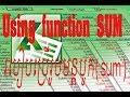 Free Excel Training Using Function SUM(+) Part 2 ប្រើរូបមន្តSUM(បូក)
