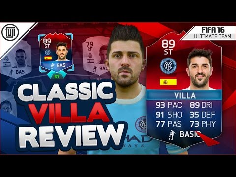 FIFA 16 CLASSIC HERO DAVID VILLA PLAYER REVIEW! (89) - FIFA 16 Ultimate Team