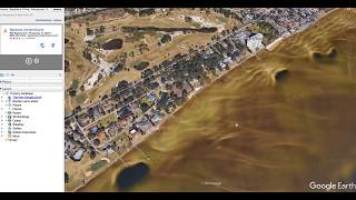 Impossible! - Hurricane IRMA drains Pensacola Bay, FL - *Visible on Google Earth!*