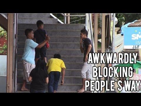 Awkwardly Blocking People