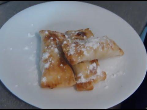 Пирожки из слоеного теста с яблоками (как в мак даке)