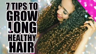 7 TIPS FOR HOW TO GROW LONG HEALTHY CURLY HAIR ft Gold Crush