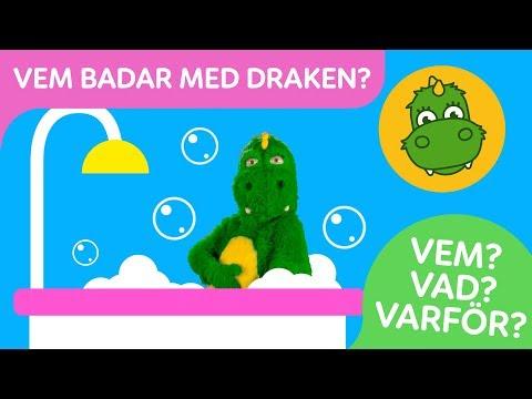 Bolibompa Baby: FRÅGEORD: Vem badar med Draken?