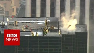 Firefighters tackle Trump Tower blaze - BBC News