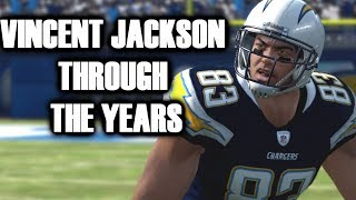 VINCENT JACKSON THROUGH THE YEARS - MADDEN 06 - MADDEN 18