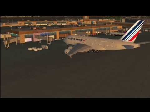 X-Plane 10 Airbus A380 landing at Salt Lake City