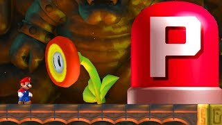 What happens when Mario presses the P-Switch in Fire Flowers Castle?