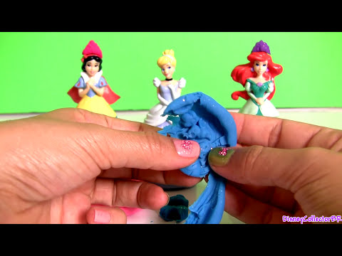 NEW Play Doh Sparkle Princess Snow White, Ariel, Cinderella Mix 'n Match Magic Fashion Dresses