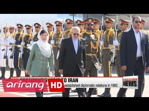 President Park arrives in Tehran for historic state visit