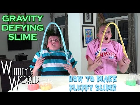How to Make Fluffy Slime | Gravity Defying Slime