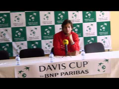 João Sousa - Conferência de Imprensa Taça Davis 2013 - Dia 1 (01-02-2013)