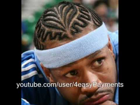Allen Iverson Gets Hair Cut YouTube