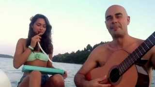 Waltz for Django - Antonio & Maya Forcione on a pedalo in Lefkas 23.07.13
