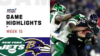 Jets vs. Ravens Week 15 Highlights | NFL 2019