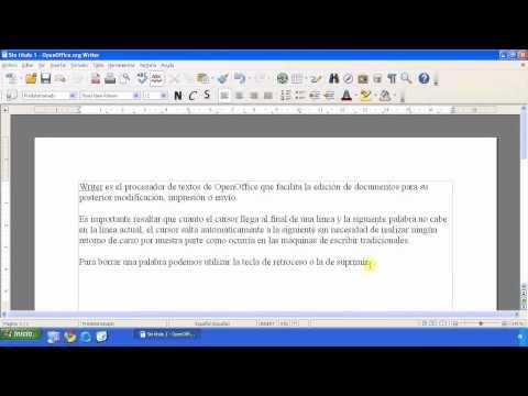 OpenOffice - Writer - Edición y formateo de texto