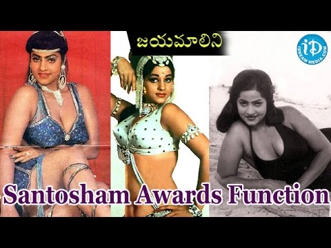 Jayamalini In Santosham Awards Function video
