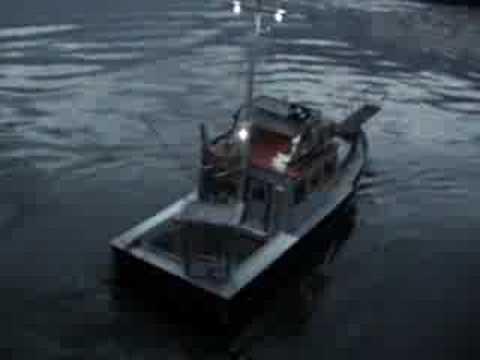 RC Orca shark boat
