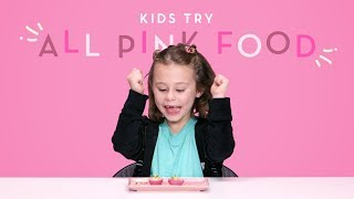 Kids Try All Pink Colored Foods | Kids Try | HiHo Kids