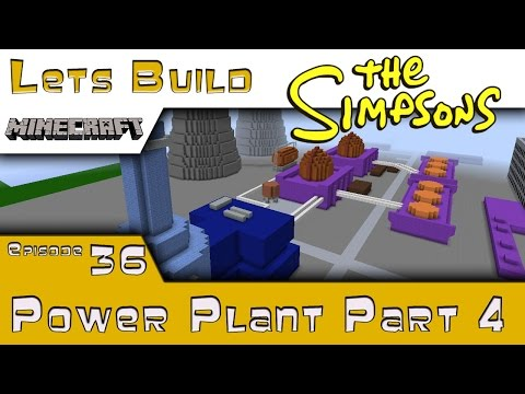 Minecraft :: Springfield Lets Build :: Power Plant P4 :: E36