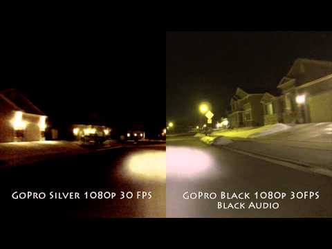 GoPro Hero 3 Black vs. Silver Edition Side By Side Split Screen Test Comparison Day and Night