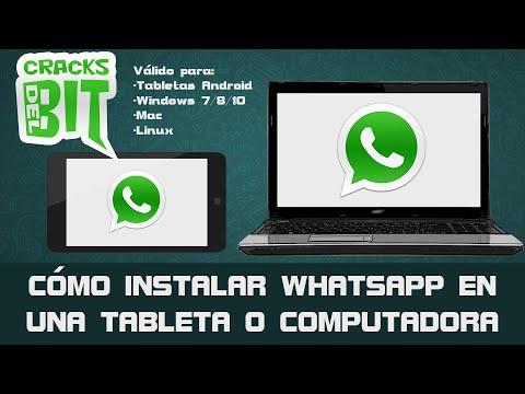 Cómo instalar WhatsApp en Tablet. PC/Windows. Mac o Linux   + Método web oficial   2017