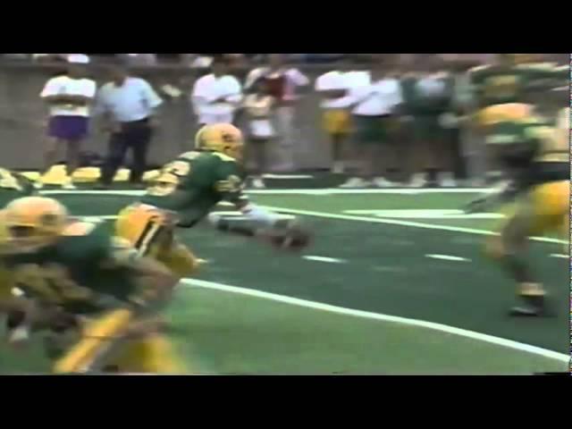 Oregon RB Sean Burwell 11 yard touchdown run vs. WSU 9-07-1991