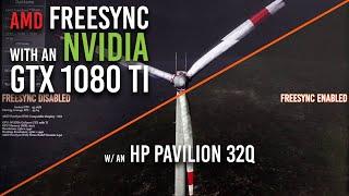 AMD FreeSync with NVIDIA GPU | HP Pavilion 32q