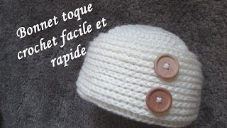 TUTO BONNET TOQUE CROCHET FACILE hat easy crochet relief GORRO RELIEVE CROCHET