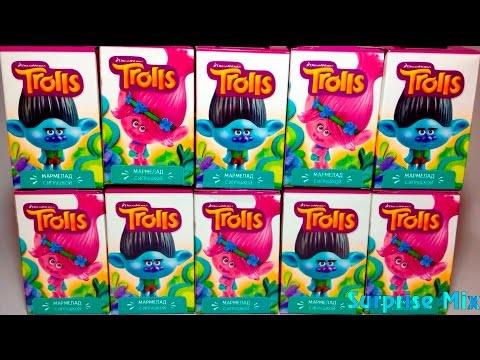 ТРОЛЛИ от СВИТ БОКС Sweet Box TROLLS movie. НОВИНКА! СЮРПРИЗЫ Игрушки МУЛЬТИК 2016. TROLLS Surprises