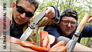 """$15 Opinel Folder VS $150 """"Mystery"""" Knife - Which is Best for Survival / Bushcraft?"""