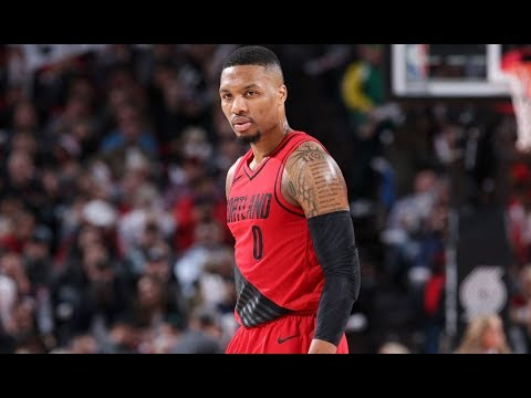 Damian Lillard Drills 9 Three-Pointers vs. Rockets | December 9, 2017