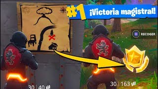 VICTORIA Descifrando el MAPA del TESORO Fortnite: Battle Royale (Easter Egg/Desafío)