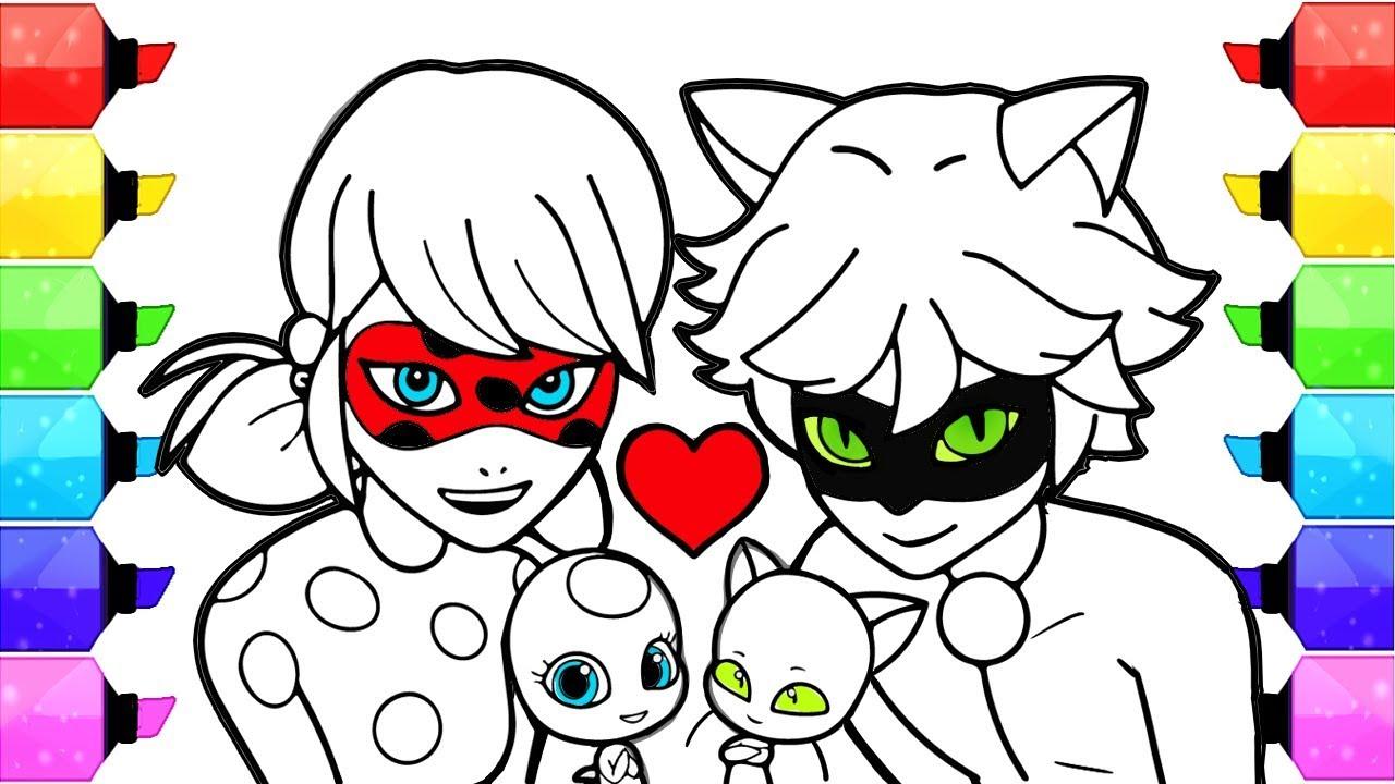 Рисуем леди баг и супер кот хлою
