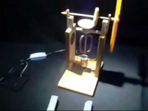 Experimentos de Física : MOTOR ELÉCTRICO -- www.tallerdefisica.tk