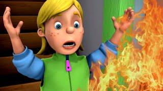 Sam el Bombero Español 🌟Habitación en llamas! - Compilación de episodios 🔥Dibujos animados