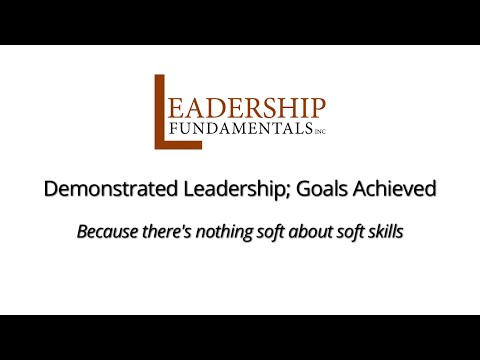 Demonstrated Leadership. Goals Achieved.