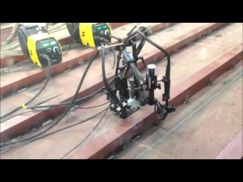 Dual Torch Stitch Welding Automation - Barge Hull Stiffeners - Shipbuilding - 2014