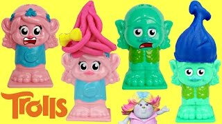 Poppy & Branch Are Bald!  TROLLS Play-doh Press n Style Hair Salon