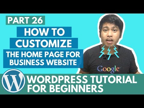 WordPress Tutorial for Beginners - How to Customize the Home Page for Business Website - Part 26