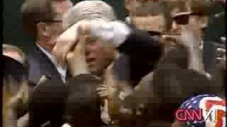 "Bill Clinton saying "" Get these Niggas offa me!!"""