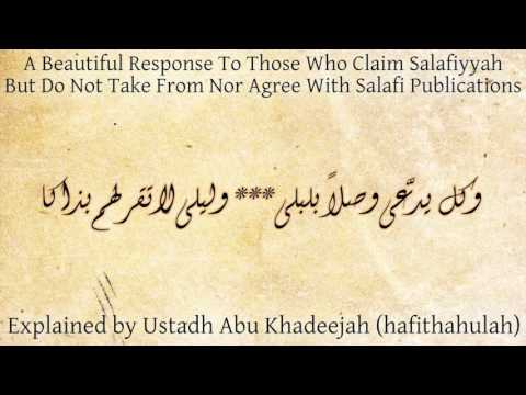 """I am Salafi But I Don't Take From Salafi Publications""   Abu Khadeejah"